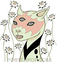 Tara McPherson Kitty Sticker Image