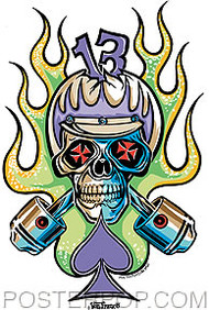 Von Franco Cycle Skull Sticker Image
