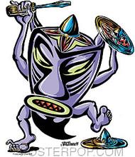 Von Franco Hubcap Tiki Sticker Image