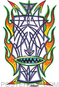 Von Franco Pinstripe Tiki Sticker Image