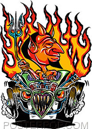Von Franco Hot Rod Devil Sticker Image