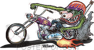 Von Franco Monster Biker Sticker Image