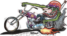 Von Franco Monster Biker Sticker Image
