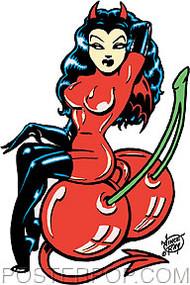 Vince Ray Cherry Bomb Sticker Image