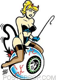 Vince Ray Blonde On Eyeball Sticker Image