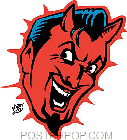 Vince Ray Devil Head Sticker Image