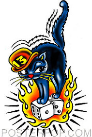 Vince Ray 13 Cat Sticker Image