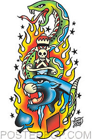 Vince Ray Tattoo Sticker Image