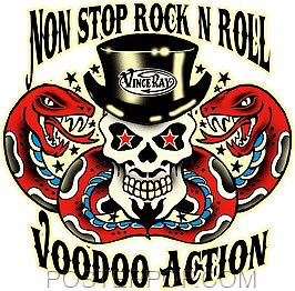 Vince Ray Non Stop Voodoo Rock and Roll Sticker Image