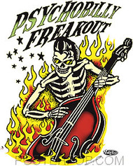 Vince Ray Psychobilly Freakout Sticker Image