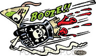 Vince Ray Booze Fist Sticker Image