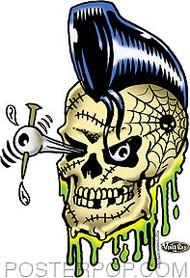 Vince Ray Psycho Bobby Sticker Image