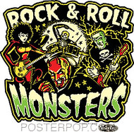 Vince Ray Rock Roll Monsters Sticker Image