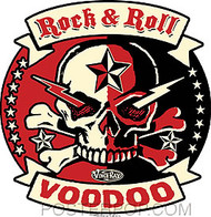 Vince Ray Rock Roll Voodoo Sticker Image