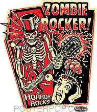 Vince Ray Zombie Rocker Sticker Image