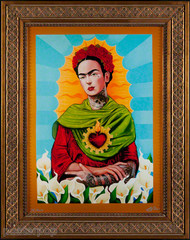 Gustavo Rimada Frida Kahlo Limited Edition Framed Canvas Print Image