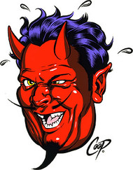 Coop Drunk Devil Sticker Image