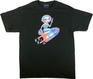 Aaron Marshall Flying Pop Girl T Shirt Image