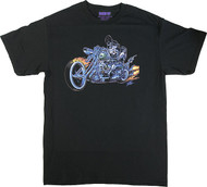Pizz Hell Biker T-Shirt Image