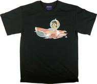 Aaron Marshall Flying Car Girl T Shirt Image