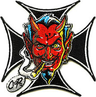 Coop Iron Cross Devil Patch