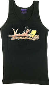 Aaron Marshall Tiger Skin Rug Girl Woman's Ribbed Tank Top Image
