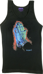 Ben Von Strawn Belong Dead Woman's Baby Doll Tee and Ribbed Tank Top Image