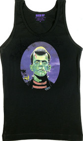Ben Von Strawn Franken-Stogy Womans Baby Doll Tee and Ribbed Tank Top