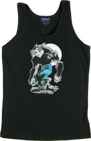 Ben Von Strawn Wolfman Womans Baby Doll Tee and Ribbed Tank Top Image