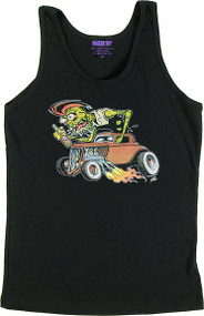 The Pizz Zombie Rod Womans Baby Doll Tee and Tank Top Image