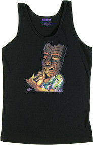 Pizz The Kahuna Womans Baby Doll Tee and Tank Top Image