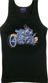 Pizz Hell Biker Womans Baby Doll Tee and Tank Top Image