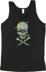 Pigors Zombie Skull Woman's Baby Doll Tee and Boy Beater Tank Image