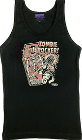 Vince Ray Zombie Rocker Womans Baby Doll Tee and Boy Beater Tank Image
