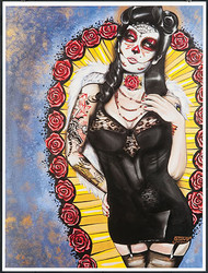 Gustavo Rimada Rose Queen Hand Signed Print Image