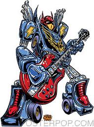 Dirty Donny Robot Rock Sticker Image