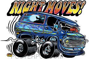 Dirty Donny Night Moves Sticker Image