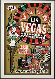 Vince Ray Viva Las Vegas #14 Silkscreen Event Poster 2011 Image
