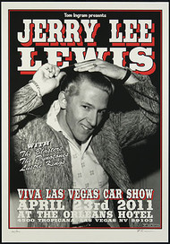 Rob Kruse Jerry Lee Lewis VLV14 Silkscreen Car Show Poster 2011 Image