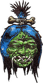 Dirty Donny Shrunken Head Patch Image