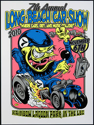 Dirty Donny Long Beach Car Show Silkscreen Concert Poster 2011