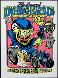 Dirty Donny Long Beach Car Show Silkscreen Concert Poster 2011