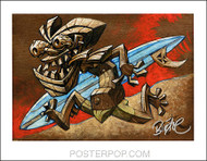 BigToe Tiki Runner Signed Artist Print Image