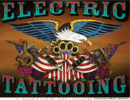 Gustavo Electric Tattooing Sticker Image