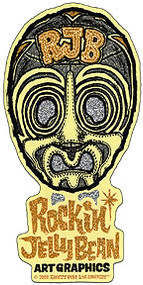 Rockin JellyBean Mask Gold Sticker Image