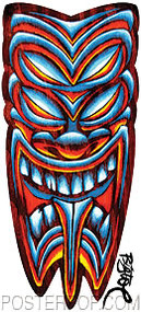 BigToe Four Eyes Tiki Sticker Image