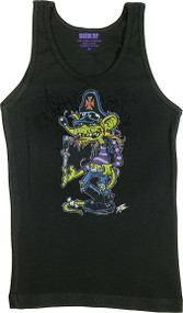 Pizz Sludge Rat Womans Baby Doll Tee and Tank Top Image