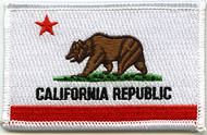 California Flag Patch CA Bear Image
