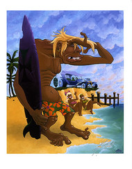 Pizz Surf Trog Hand Signed Print 8-1/2 x 11 Image