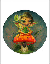 Aaron Marshall Green Pixie Hand Signed Artist Print Image